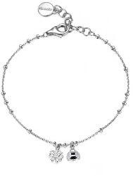 Krásný stříbrný náramek s přívěsky Gaia RZGA16