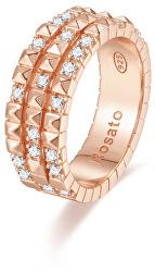 Originální bronzový prsten se zirkony Cubica RZA016