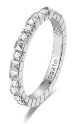 Originálne strieborný prsteň so zirkónmi cubic RZA011