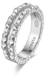 Originální stříbrný prsten se zirkony Cubica RZA013