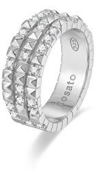 Originální stříbrný prsten se zirkony Cubica RZA015