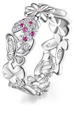 Překrásný stříbrný prsten se zirkony Gaia RZGA31