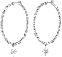 Půvabné kruhové náušnice ze stříbra s přívěsky 2v1 Storie RZO035