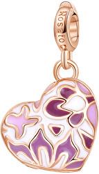 Ružovo pozlátený prívesok (medailón) Srdce Storie RZ058