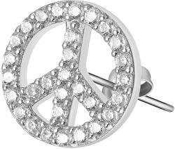 Stříbrná single náušnice se zirkony Peace Storie RZO024R