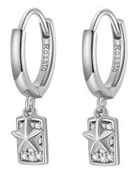 Cercei rotunzi argintii cu pandantive RZFU23