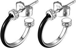 Stříbrné kruhové náušnice se zirkony Storie RZO005