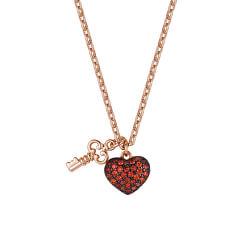 Zamilovaný bronzový náhrdelník Storie RZC045 (řetízek, přívěsky)