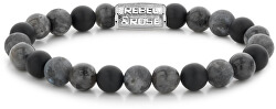 Gyöngy karkötő szürke Grey Rocks RR-80069-S