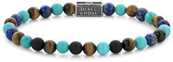 Korálkový náramek Mix Turquoise 925 RR-6S006-S