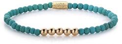 Obrúbený náramok Turquoise Delight Velvet RR-40026-R