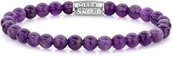 Obrúbený náramok Purple Rain RR-60053-S