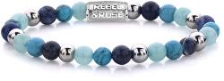 Ocelový náramek Blue Summer Vibes II RR-60056-S