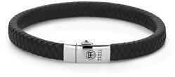 Pánsky kožený náramok Small Braided Black RR-L0070-S