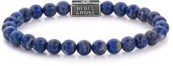 Stříbrný korálkový náramek Lapis Lazuli RR-6S002-S