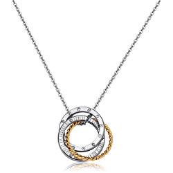 Bicolor náhrdelník s propojenými kruhy Trinidad STR20