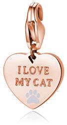 Bronzový prívesok I love my cat SHA341