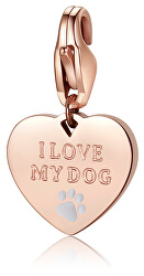 Bronzový prívesok I love my dog SHA339