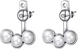 Oceľové náušnice s perličkami 2v1 Marylin SMY21