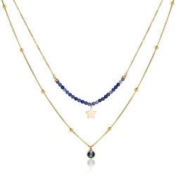 Dvojitý ocelový náhrdelník s ozdobami Aurora SAR10