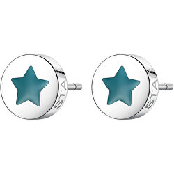 Krásné ocelové náušnice hvězda CLICK SCK57