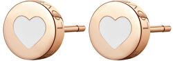 Moderní ocelové náušnice srdce CLICK SCK56