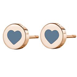 Moderní ocelové náušnice srdce LOVE SCK55
