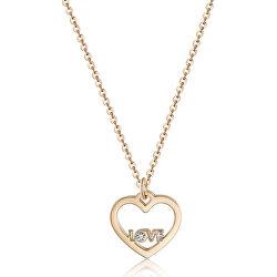 Náhrdelník s přívěskem srdce a nápisem LOVE Pretty SPE04 (řetízek, přívěsek)
