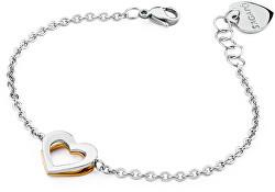 Schmetterlings-Armband mit Herz SBF14