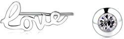 Ocelové asymetrické náušnice Write SWT22