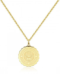 Ocelový náhrdelník Protect Coin SKY04