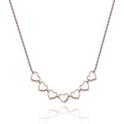 Ocelový náhrdelník se srdíčky STARLOVE SRL04