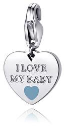 Oceľový prívesok I love my baby SHA332