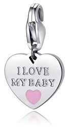 Oceľový prívesok I love my baby SHA334
