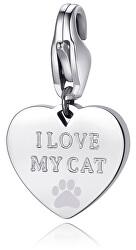 Oceľový prívesok I love my cat SHA340