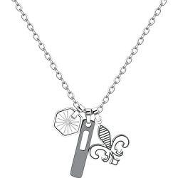 Pánský ocelový náhrdelník Indie SIN03