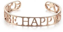 Tömör acél karkötő Be Happy Lovely SOV16