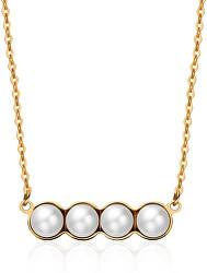 Pozlátený náhrdelník s perličkami Marylin SMY02