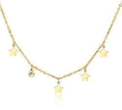 Pozlacený ocelový náhrdelník s hvězdičkami Luce SCE05