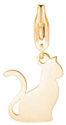 Pozlacený přívěsek Kočka Happy SHA314