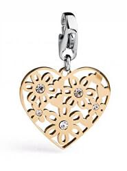 Romantický přívěsek Happy Pozlacené srdce SHA155