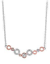 Bicolor dámský náhrdelník se zirkony SC346