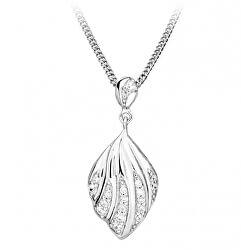 Očarujúce náhrdelník so zirkónmi SC375