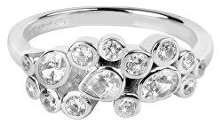 Oslnivý prsten se zirkony SC279