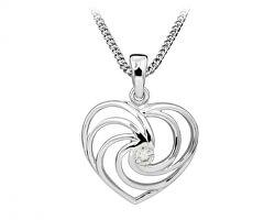 Romantický srdíčkový náhrdelník se zirkonem SC408