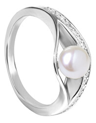 Stříbrný prsten s perlou SC296