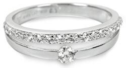 Stříbrný prsten s krystaly SC118