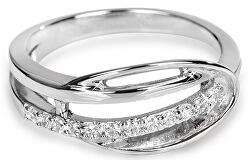Stříbrný prsten s krystaly SC160