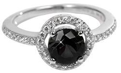 Strieborný prsteň s kryštálmi SC163