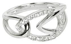 Strieborný prsteň so zirkónmi SC192